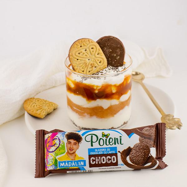 Sugestie consum biscuiti Poieni Choco Madalin